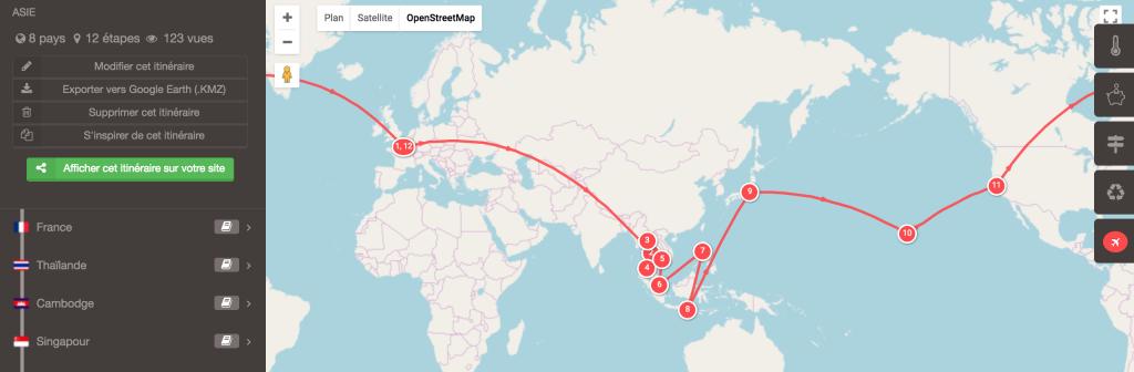 planificateur tour du monde